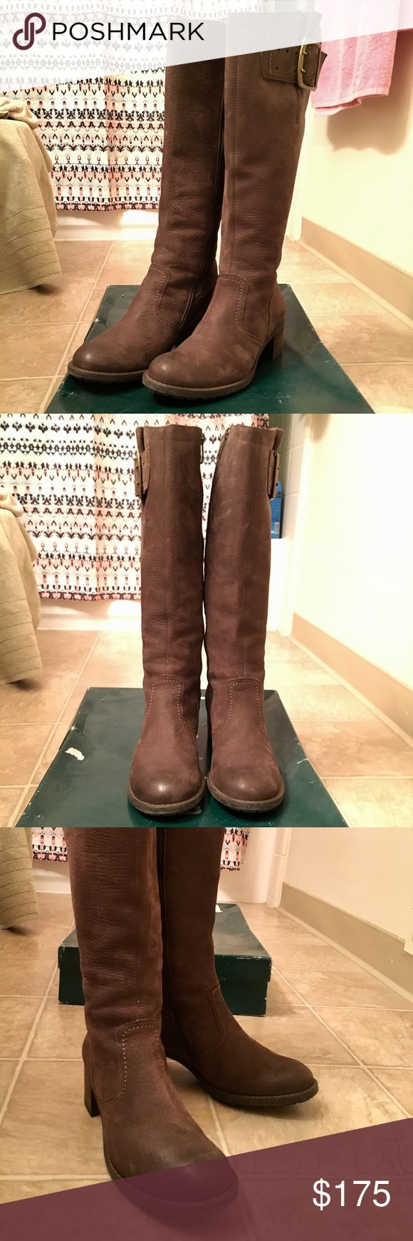 Paul Green Arianne Boots  - Very gently used Classic leather riding boot.  Very comfortable with big buckle. They come up about knee high and have a small heel.  Great condition! Always kept in the box.  Retail $400 from Nordstrom brand new.  Sold out everywhere! They will be sent with original box! ❤️ Paul Green Shoes Heeled Boots