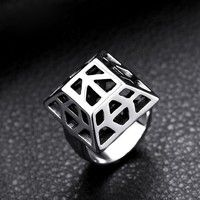 Species:Film ring Material: white gold Plated Style: Wedding Ring    Sex:men Color:white+black Stamp