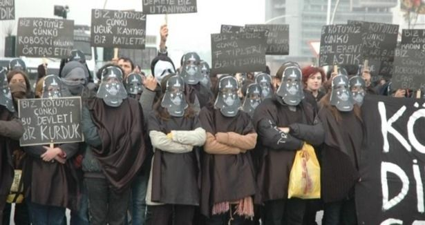 ODTÜ students, from one of the biggest government univerties based in capital Ankara, started their protests with Star Wars masks.