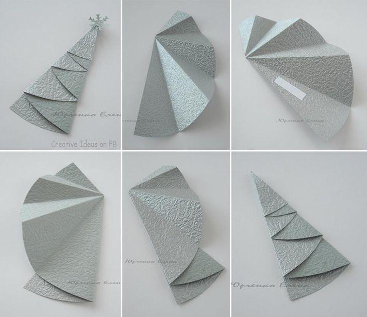 easy to make paper X'mas tree