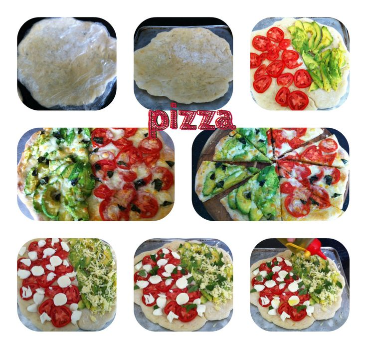 Freshly made pizza. With bases made from scratch and fresh toppings, just glorious!