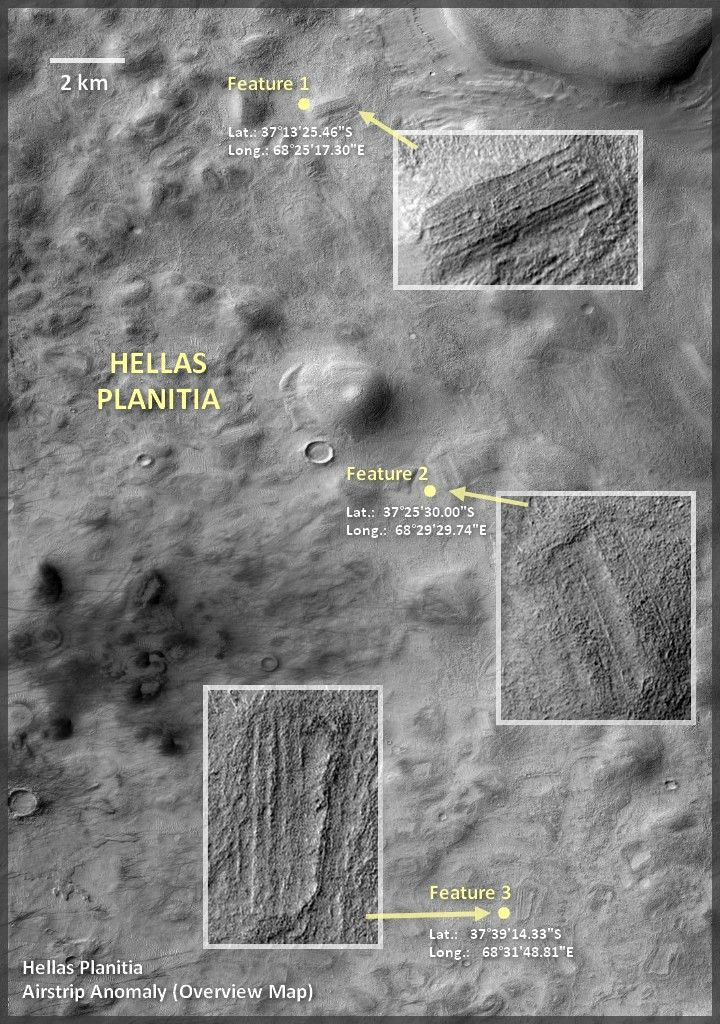 Are These Artificial Structures On Mars? Satellite images ...