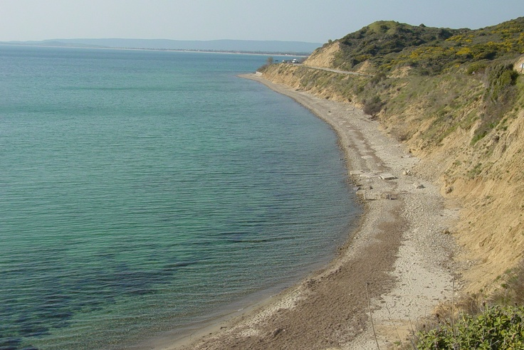 Beach at Gallipoli, Turkey where ANZAC forces had to land under withering fire