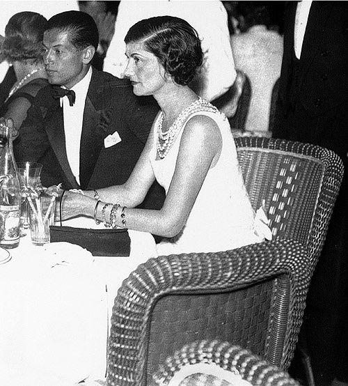 Chanel with Serge Lifar, Monte Carlo 1937