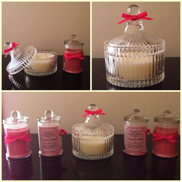 Christening Soy Candle Keepsakes! Pretty in Pink