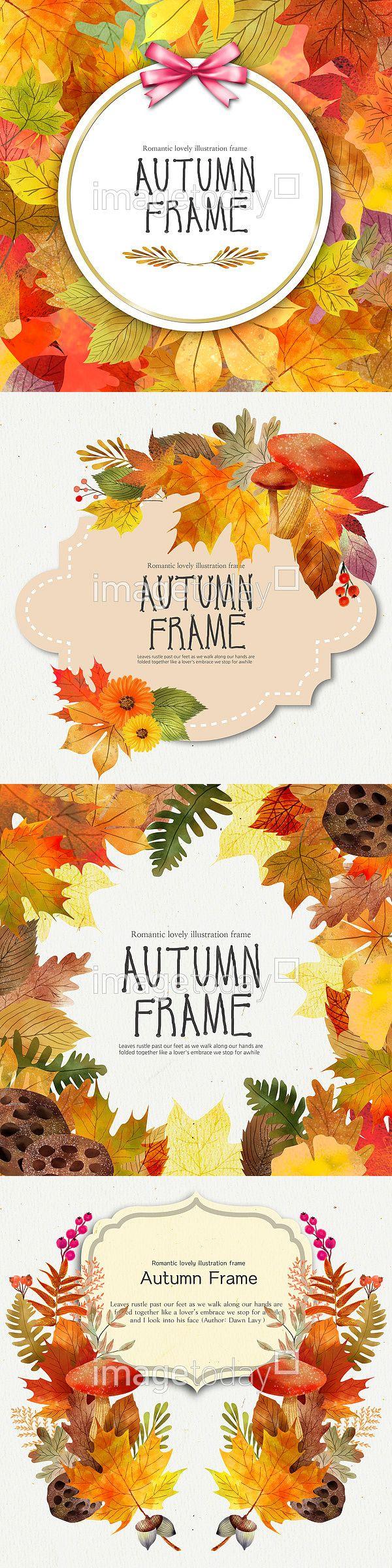 PSD 가을 계절 나뭇잎 낙엽 단풍 단풍잎 리본 무늬 백그라운드 수채화 식물 자연 장식 카드 페인터 프레임 PSD leaves of…