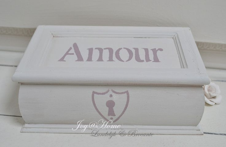 Houten kistje Amour in vele kleurtjes