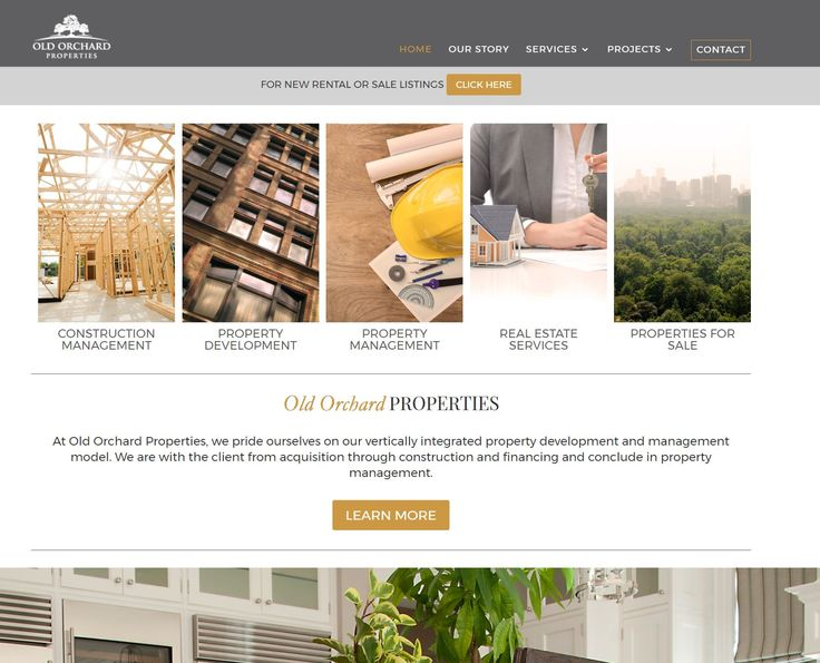 Property Development and Project Management Company rebrand and website