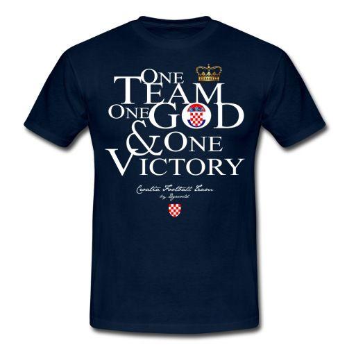 One Team croatie - citation - football - sport -Tee shirt Homme