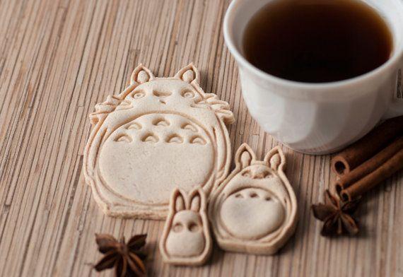 O Totoro Chu Totoro Chibi Totoro. Cookie от CoolCookiesCutters