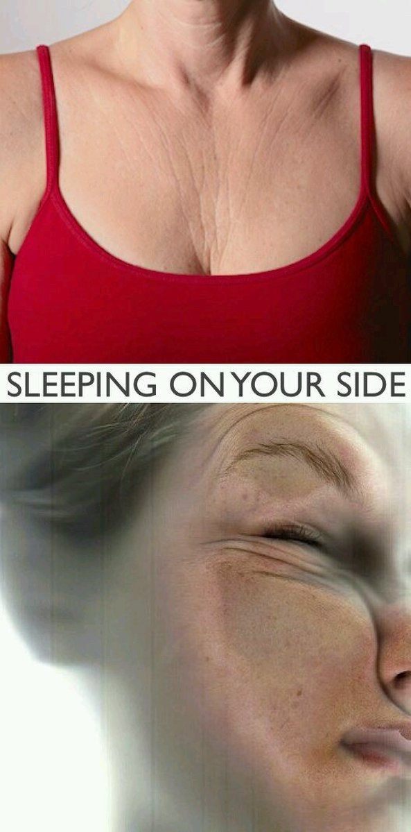 Did you know you can get wrinkles while you sleep?!?! Are you a side sleeper? This is what's happening to your skin while you sleep. #sidesleeping