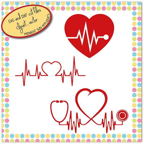 Stethoscope SVG stethoscope cut file heart rate svg