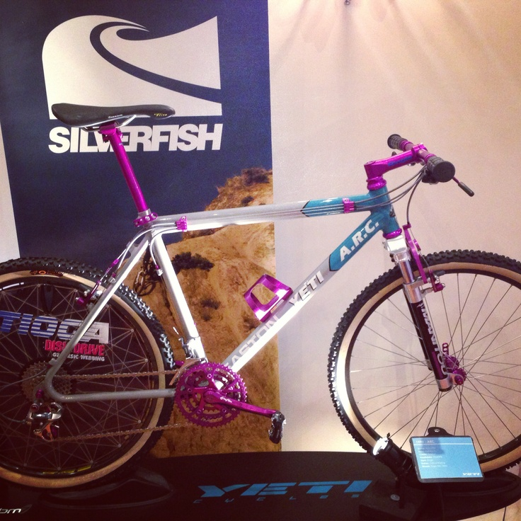 Our most liked picture to date on Facebook with 45 likes and 18 comments! Yeti Arc from 1992 on display at the Core bike show. Owned by @Melanie Bauer Bauer Dyson UK #yetiarc #vintageyeti