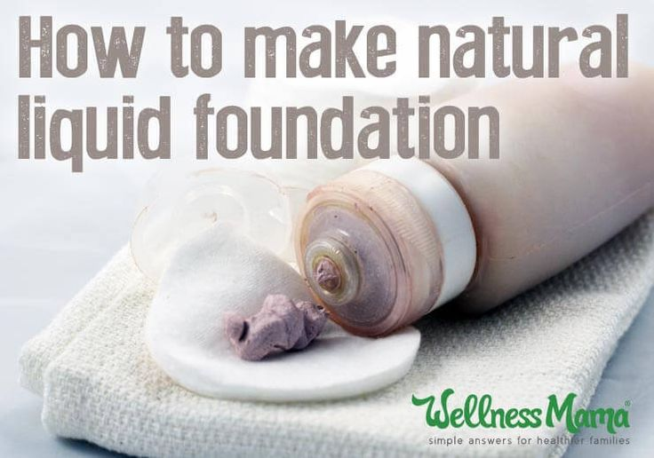 How to make natural liquid foundation - this DIY homemade liquid foundation uses natural ingredients and moisturizes skin without looking cake-y.