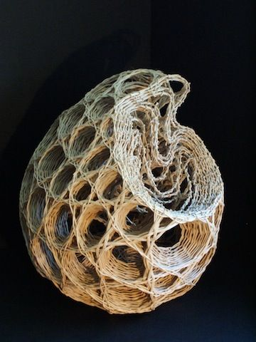 'After Haeckel' by fiber artist Rachel Max. via Basketry Plus