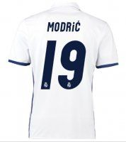 Real Madrid C.F Home 16-17 Season Modric #19 Soccer Jersey approx $100