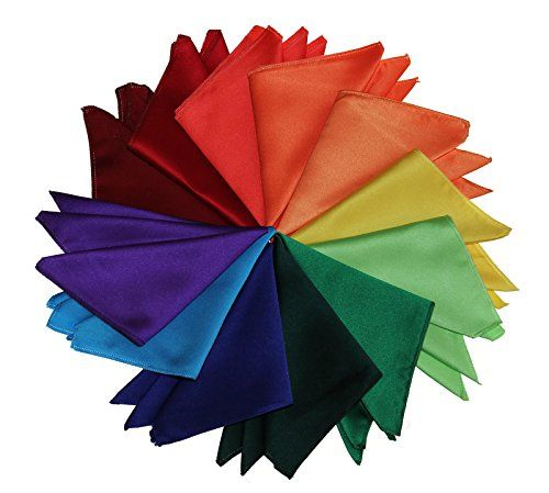 Pocket Square Handkerchief in Solid Colors Sized for Boys and Men by Tuxgear Inc  Pocket Square Handkerchief in several different SOLID COLORS  This pocket square is the perfect size for easy to fold pocket handkerchief options such as Puff Fold, Flat Fold, One Point, Two Point, Three Point and so many more!  One Size Fits All Pocket Square for Men's and Boys' Sizes  These pocket squares come in Antique Gold, Black, White, Light Silver, Red, and over 30 more colors to choose from.  Mat...