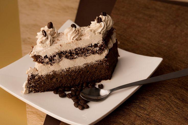 Light moka cake.