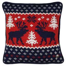 Knit Deer Blue Pillow
