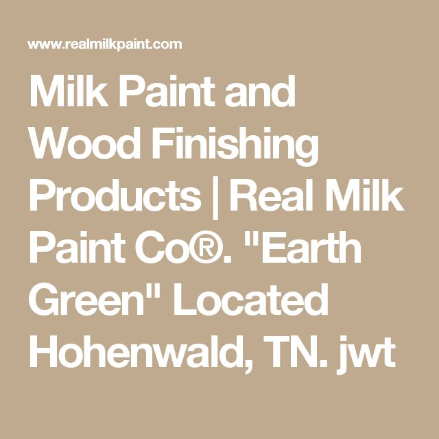"""Milk Paint and Wood Finishing Products 