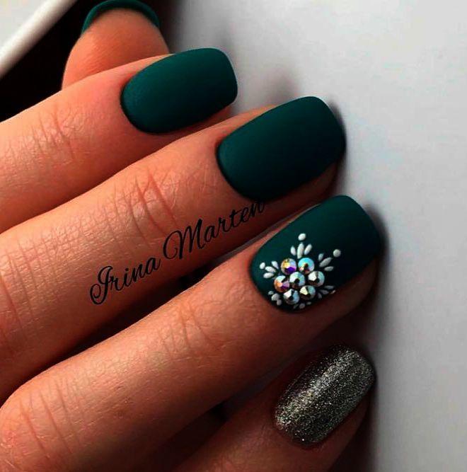 20 Ideas Ebook Green Nails Nail Colors Winter Nail Colors