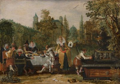 Merry Company in a Park | 1614| Mauritshuis | Public Domain