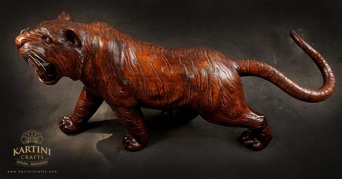 Tiger Wooden Sculpture