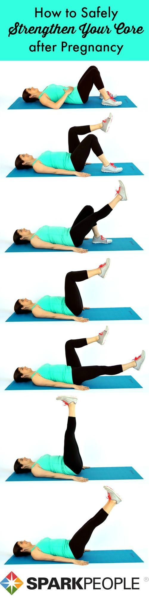 Safely re-build your #core after #pregnancy with this gentle routine! | via @SparkPeople #postpartum #fitness