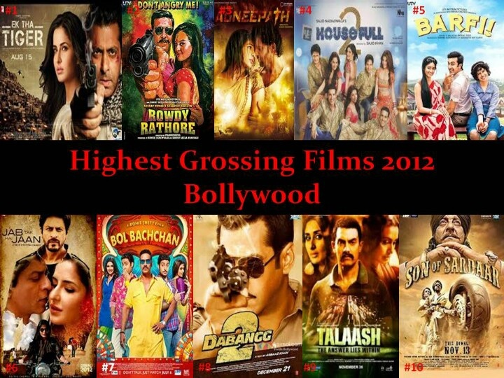 Top 10 films Bollywood 2012 - highest grossing