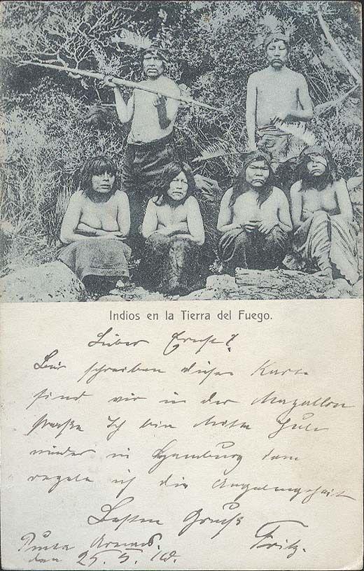 CHILE TIERRA DEL FUEGO INDIOS 1910