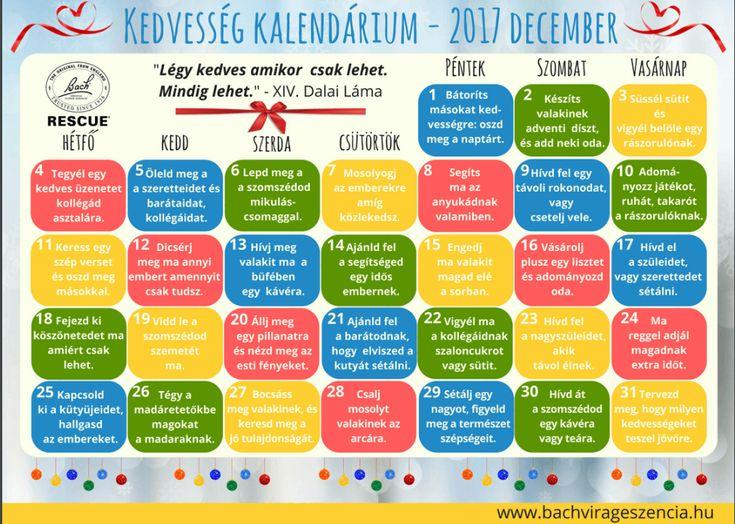 Kedvesség kalendárium.