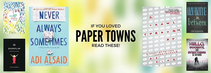 New Books like Paper Towns
