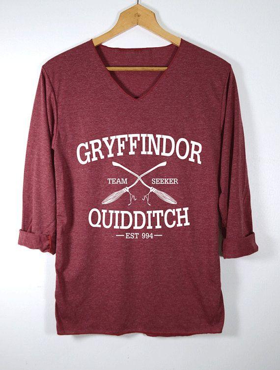 Gryffindor Shirt Quidditch Harry Potter Shirts Red by topsfreeday