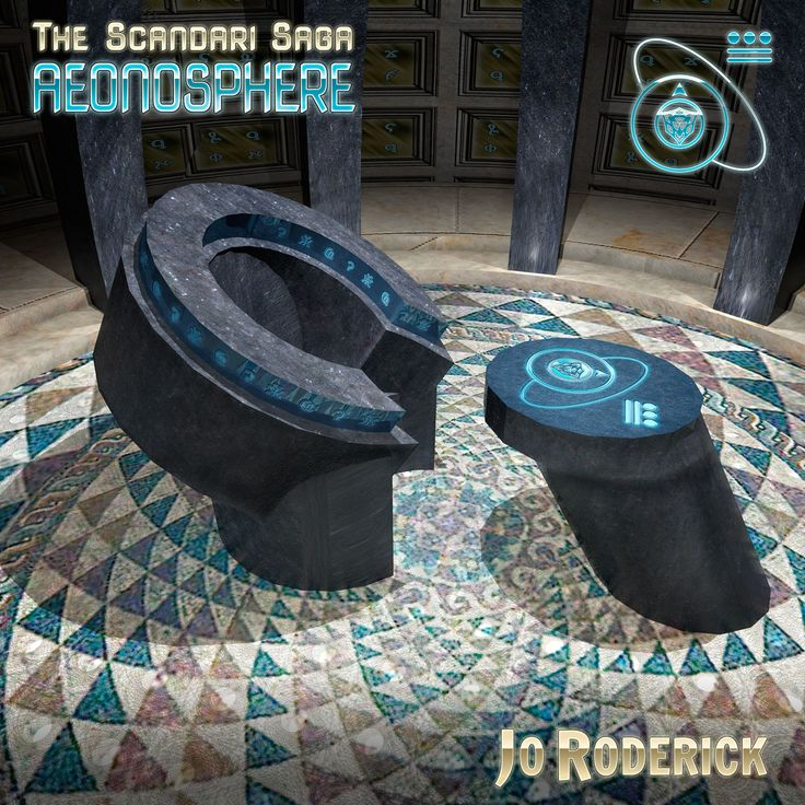 The Scandari Saga Book I - Aeonosphere. A 3D render of the throne in the Aeonosphere.