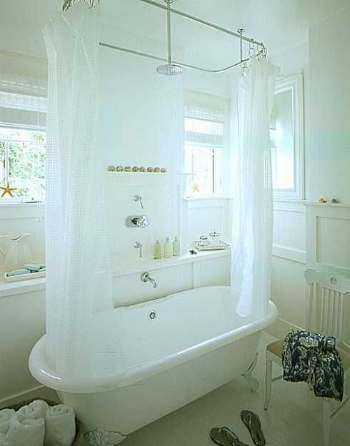 Shower Curtain Rod Solution For Claw Foot Tub Guest Bath Oh Please Let Me