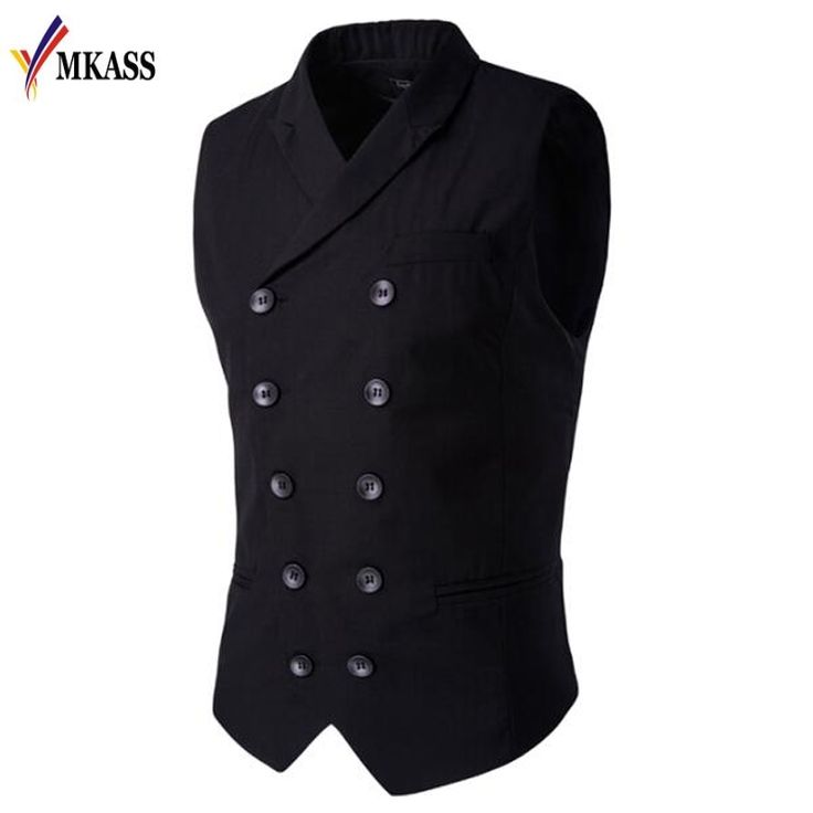 Cheap mens suit vest, Buy Quality mens suit vest styles directly from China suit vest Suppliers: Men's Clothing British Style Slim Masculino Cotton Double Breasted Sleeveless Jacket Waistcoat Suit Collar Men Suit Vest