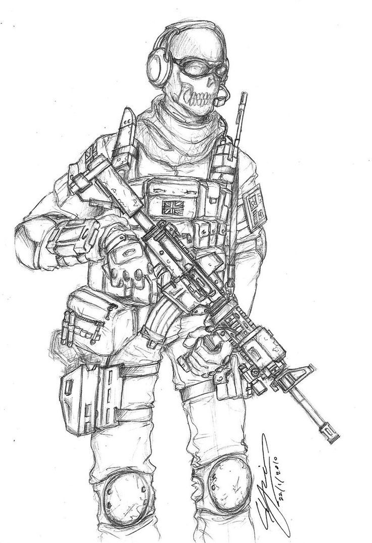 Call Of Duty Coloring Pages To Print Free Soldados Dibujo Dibujos De Anime Arte Militar