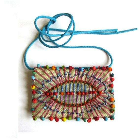 hand embroidered dolorful necklace with beads by Madrigal Embroidery