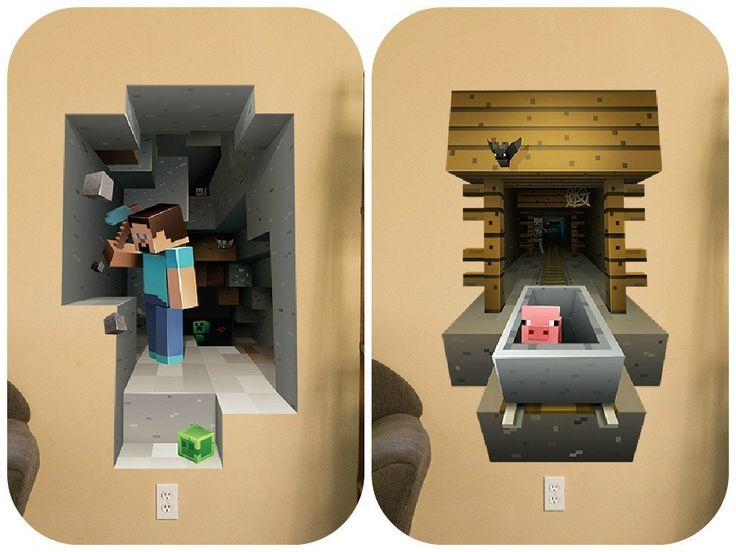 Minecraft Vinyl Wall Graphics Mining 2 Pack Http Bit Ly