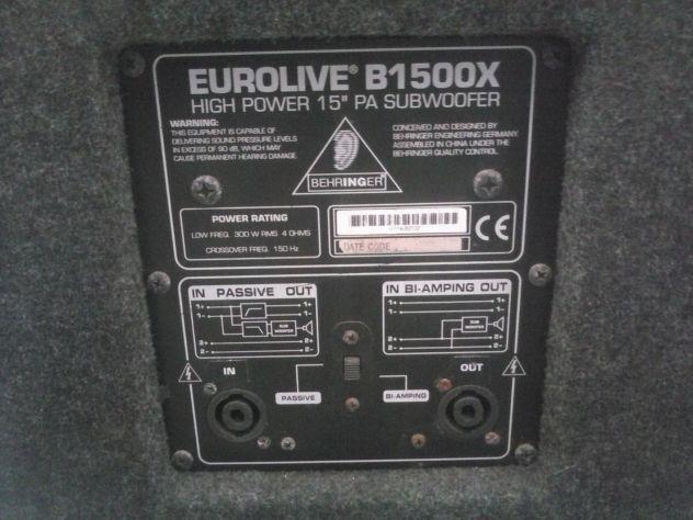 Impianto AUDIO BEHRINGER EUROLIVE