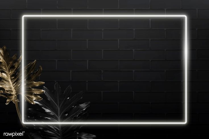 Download Premium Vector Of Rectangle White Neon Frame On Tropical Leaves Leaf Background Powerpoint Background Design Poster Background Design