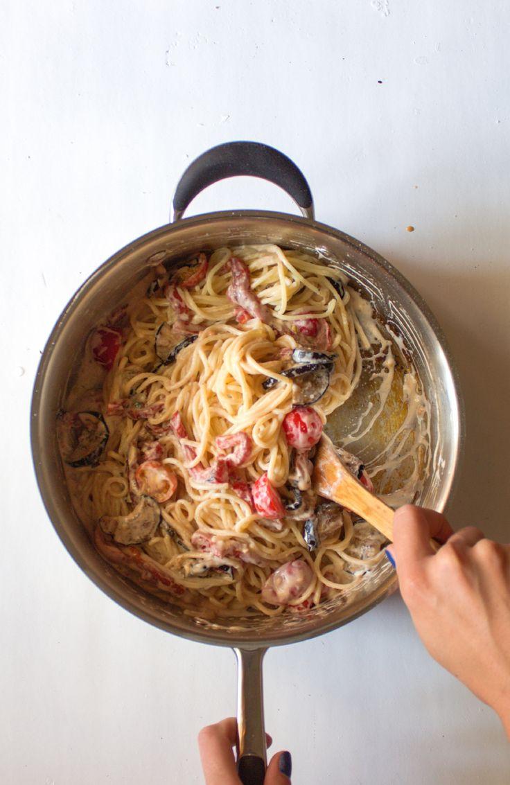 Готовая овощная паста в сливочном соусе