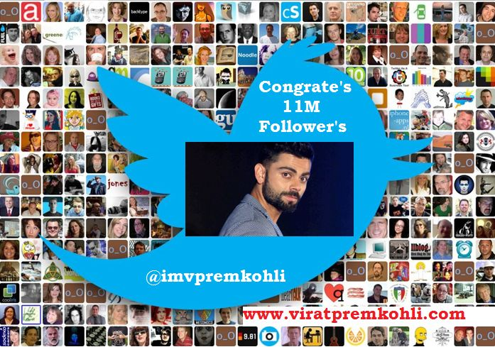 Virat Kohli Reaches 11 Million followers on Twitter #virat #viratkohli #viratkohliclub