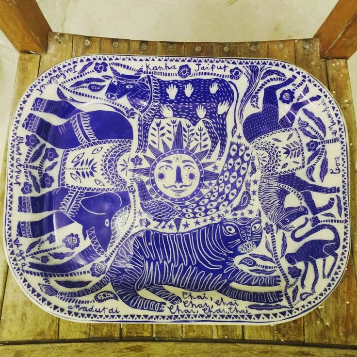 Www.vickylindo.co.uk special commission , my indian dream.  The pigeon club pottery.