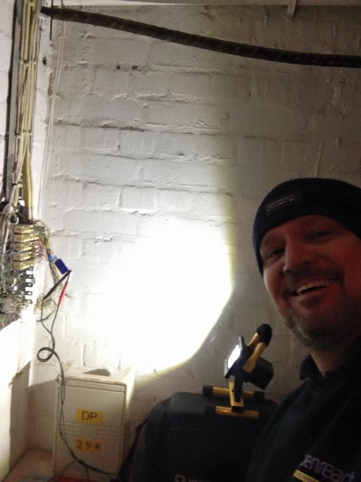 Ian is a telecoms engineer - our portable LED floodlight is his new bestie x