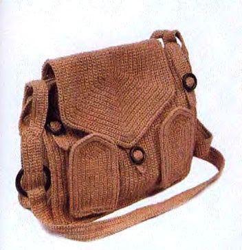 Вязание: Вязаная сумка крючком