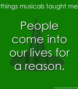Things Musicals Taught Me