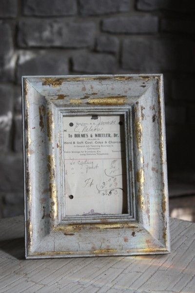 Gilded Wood Picture Frame  - note to self = I can make these for less: Crafts Ideas, Gold Leaf, Save On Crafts, Tables Numbers, Wood Frames, Distressed Frames, Frames 8X10, Gild Wood, Wood Pictures Frames