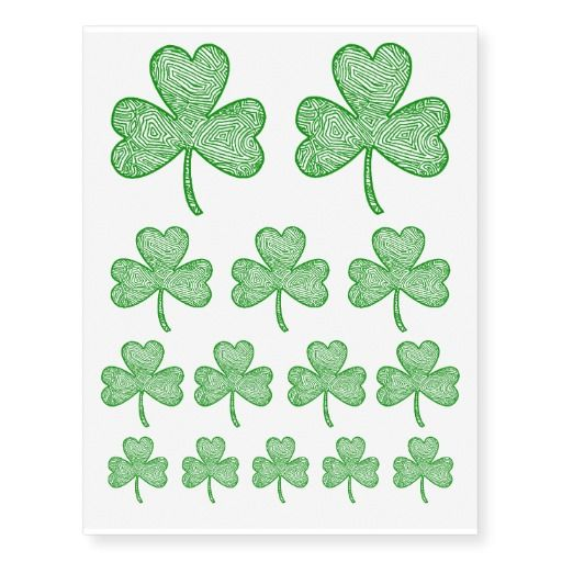 Temporary Tattoos ( Shamrock   )