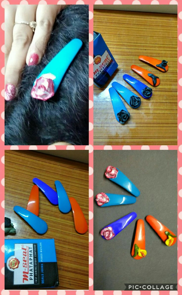 DIY hair clips....